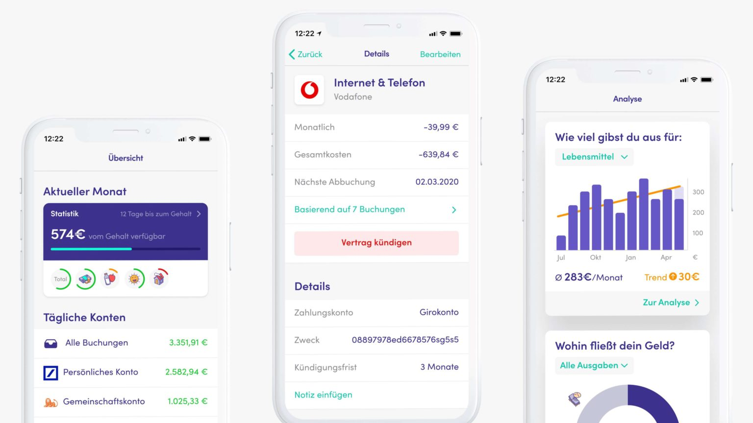 Finanzguru-App-Test-Screens
